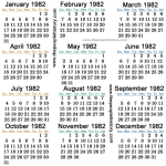 1982-calendar